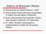 history of brownian motion