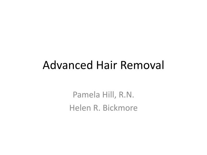 advanced hair removal n.