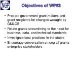 objectives of wp 3