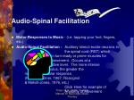 audio spinal facilitation