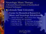 neurologic music therapy a research based system of standardized clinical techniques1