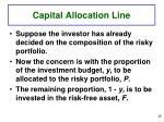 capital allocation line