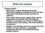 risk free assets