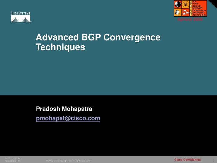 advanced bgp convergence techniques n.