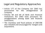 legal and regulatory approaches
