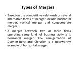 types of mergers