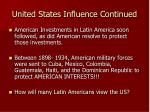 united states influence continued