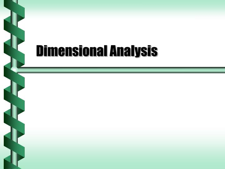 dimensional analysis n.