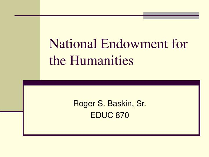 national endowment for the humanities n.