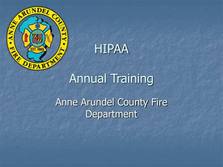 hipaa annual training n.