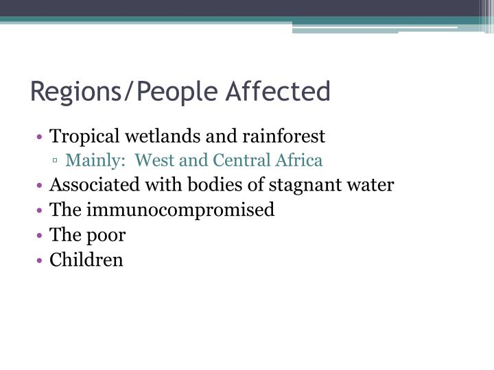 Regions/People Affected