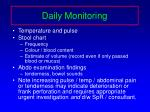 daily monitoring