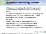 cernavoda technology transfer