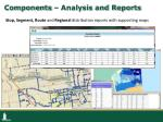 components analysis and reports