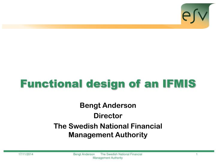 functional design of an ifmis n.