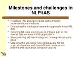 milestones and challenges in nlp ias