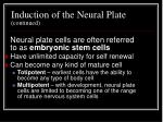 induction of the neural plate continued