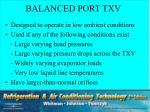 balanced port txv