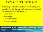 types of bulb charge