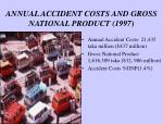 annual accident costs and gross national product 1997