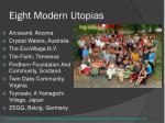 eight modern utopias