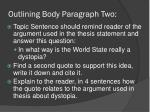 outlining body paragraph two