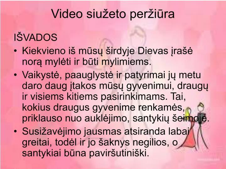 Video siužeto peržiūra