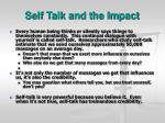 self talk and the impact