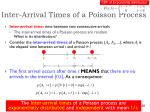 inter arrival times of a poisson process