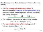 non homogenous non stationary poisson process nspp