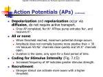 action potentials aps continued1