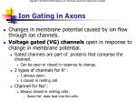 ion gating in axons