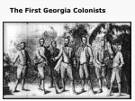 the first georgia colonists