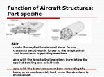 function of aircraft structures part specific