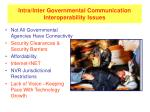 intra inter governmental communication interoperability issues