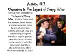 activity 3 characters in the legend of sleepy hollow