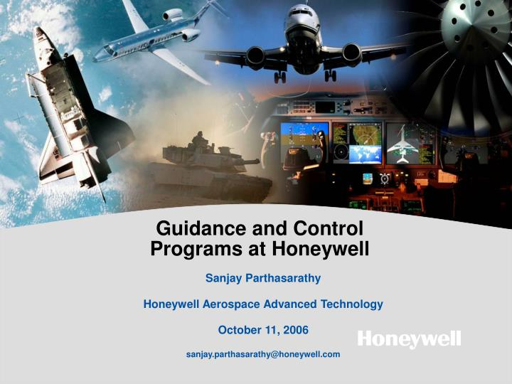 guidance and control programs at honeywell n.