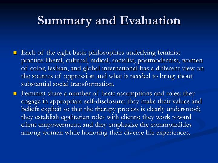 outline and evaluate feminist views of Given the conflicting views that co-exist under the materialist cover outline the difference between marxfem and matfem as follows: feminist theory has come to mean feminist poststructuralism and this entails the adoption of principles.