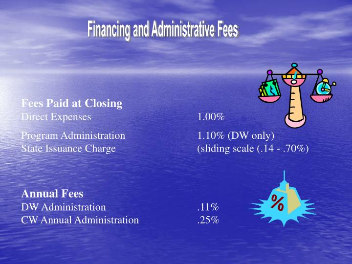 Financing and Administrative Fees