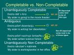 completable vs non completable