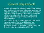 general requirements2