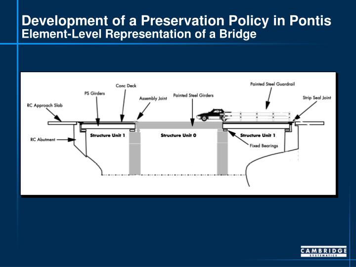 Development of a Preservation Policy in Pontis