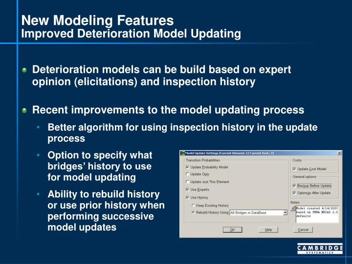 New Modeling Features