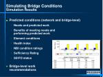 simulating bridge conditions simulation results