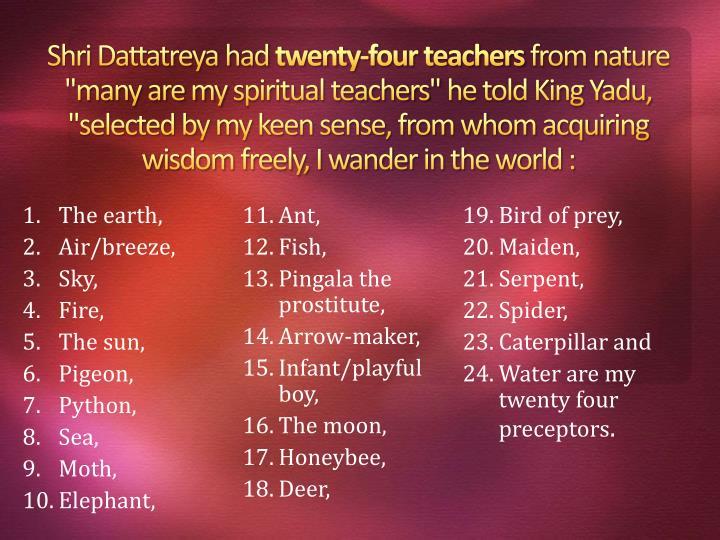 Shri Dattatreya had