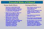 potential risks of ethanol
