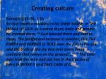 creating culture