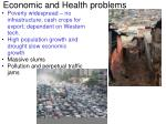 economic and health problems