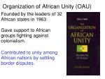 organization of african unity oau