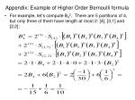 appendix example of higher order bernoulli formula